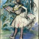Dancer with a Fan ca 1890 girl canvas art print by Edgar Degas