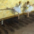 Dancers Practicing at the Barre 1877 girls canvas art print by Edgar Degas