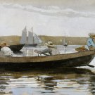 Boys in a Dory 1873 seascape canvas art print by Winslow Homer