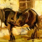 Small Horse Study II 1905 equestrian domestic animal farm canvas art print by Franz Marc