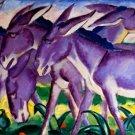 Eselfries 1911 donkey equestrian horse family domestic animals farm canvas art print Franz Marc