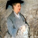 Madame Édouard Manet Suzanne Leenhoff ca 1869 woman portrait canvas art print by Edouard Manet