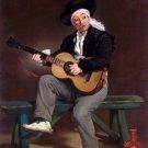 The Spanish Singer 1860 man canvas art print by Edouard Manet
