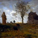 Autumn Landscape with a Flock of Turkeys ca 1872 canvas art print by Jean-Francois Millet