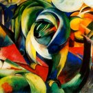 The Mandrill 1913 wild animal woods forests landscape canvas art print by Franz Marc