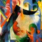 Broken Forms 1914 canvas art print by Franz Marc