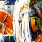 Enchanted Mill 1913 water landscape canvas art print by Franz Marc