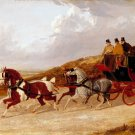 The Edinburgh and London Royal Mail 1838 horses equestrian canvas art print by John F. Herring Sr