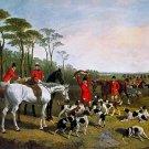 The Kill 1850 horses equestrian canvas art print by John F. Herring Sr
