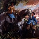 King Charles II on Humphrey Penderel's Mill Horse ca 1672 horses canvas art print by Isaac Fuller