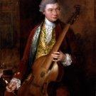 Karl Friedrich Abel man portrait canvas art print by Thomas Gainsborough