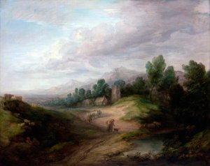 Wooded Upland Landscape ca 1783 canvas art print by Thomas Gainsborough