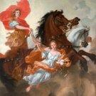 Apollo and Aurora 1671 mythology canvas art print by Gerard or Gérard de Lairesse