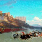 The Chariot Race cityscape canvas art print by Jean Leon Gerome