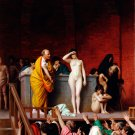 The Slave Market in Rome Slave Auction canvas art print by Jean Leon Gerome