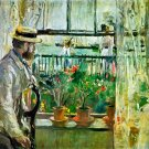 Eugène Manet auf der Isle of Wight 1875 man water landscape canvas art print by Berthe Morisot