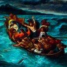 Christ Asleep during the Tempest religious canvas art print Delacroix