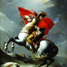 Napoleon Crossing the Alps or At  the Saint-Bernard Pass canvas art print by Jacques-Louis David