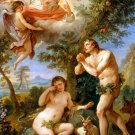The Expulsion from Paradise Adam Eve God canvas art print by Natoire