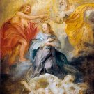 The Coronation of the Virgin religious canvas art print by Rubens