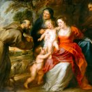 The Holy Family religious Christian Bible canvas art print by Rubens