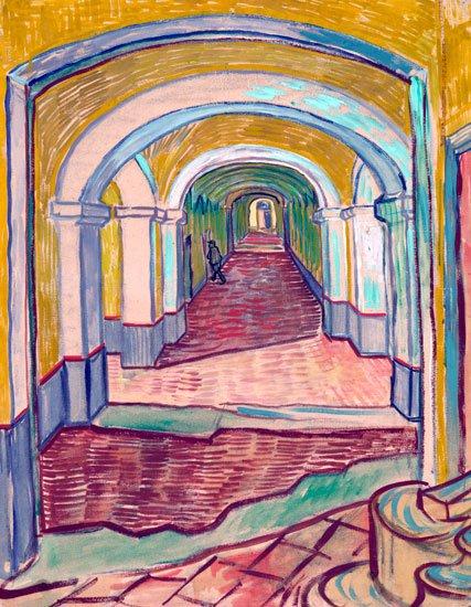 Corridor in the Asylum 1889 mental hospital canvas art print by Vincent van Gogh
