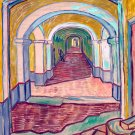 Corridor in the Asylum 1889 mental hospital canvas art print by Vincent van Gogh