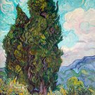Cypresses 1889 landscape trees canvas art print by Vincent van Gogh