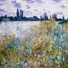 Ile aux Fleurs near Vetheuil 1880 island of flowers water landscape canvas art print by van Gogh