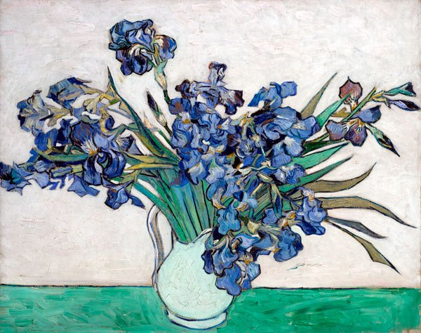 Irises 1890 still life flowers canvas art print by Vincent van Gogh