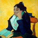 L'Arlesienne Madame Joseph Michel Ginoux woman canvas art print by Vincent van Gogh