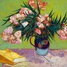 Oleanders 1888 still life flowers canvas art print by Vincent van Gogh