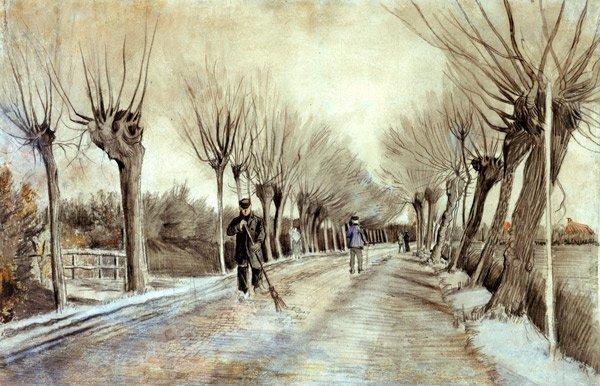 Road in Etten 1881 landscape canvas art print by Vincent van Gogh