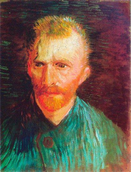 Self-Portrait 1887 man canvas art print by Vincent van Gogh