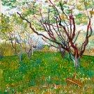 Orchard in Blossom landscape garden canvas art print by Vincent van Gogh