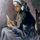 The Potato Peeler woman canvas art print by Vincent van Gogh