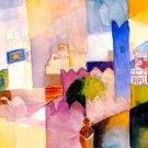 Cairo Scene cityscape canvas art print by Franz Marc