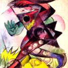 Figurine for Shakespeare's Storm canvas art print by Franz Marc