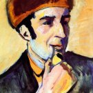 Portrait of Franz Marc canvas art print by Franz Marc