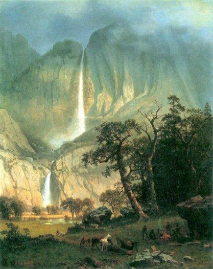 Cho-Looke Yosemite Waterfall American West landscape canvas art print by Albert Bierstadt