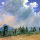Fir Trees and Storm Clouds American West landscape canvas art print by Albert Bierstadt