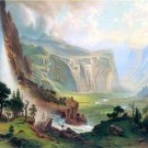 Half Dome in Yosemite American West landscape canvas art print by Albert Bierstadt