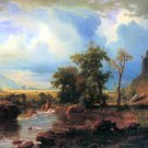 Northern Fork of the Plate Nebraska landscape canvas art print by Bierstadt