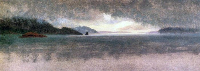 Pacific Northwest seascape canvas art print by Bierstadt