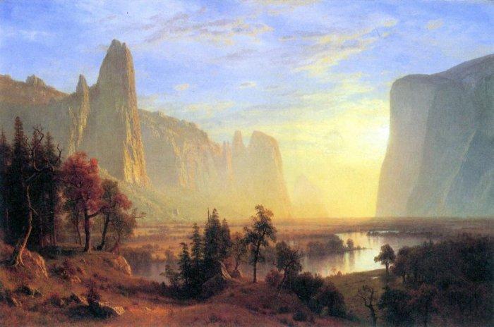 Yosemite Valley California American West landscape canvas art print by Albert Bierstadt