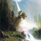 Yosemite Falls California American West landscape canvas art print by Albert Bierstadt