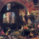The Arc of Octavius Roman Fish Market canvas art print by Bierstadt