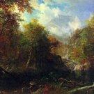 The Emerald Pond landscape canvas art print by Bierstadt