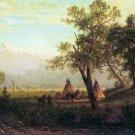 Wind River Mountains in Nebraska American canvas art print by Albert Bierstadt