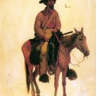 Trapper cowboy horse canvas art print by Bierstadt